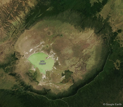 Crater satellite image