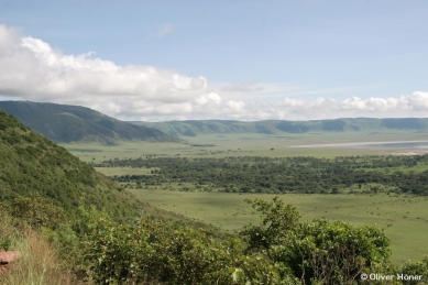 View of the western side of the Ngorongoro Crater