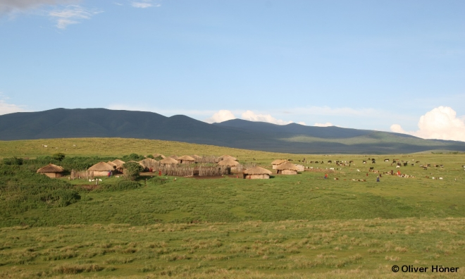 Maasai village on the Crater highlands