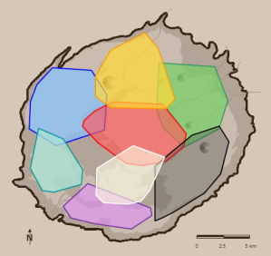 Crater map with hyena clan territories
